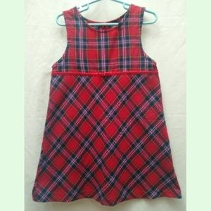 Sonoma Red Plaid Jumper Dress M 5